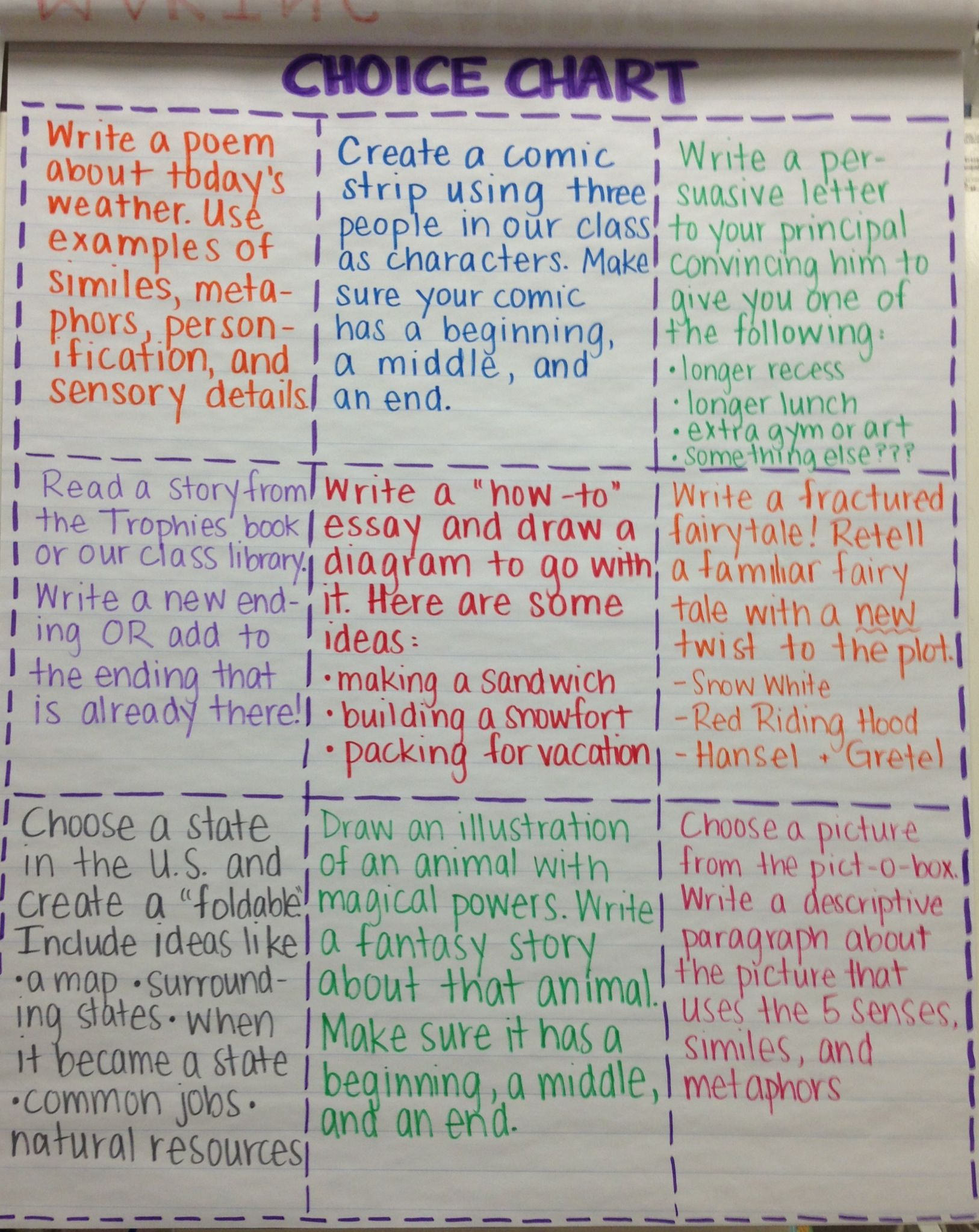 Ela Choice Time For Early Finishers