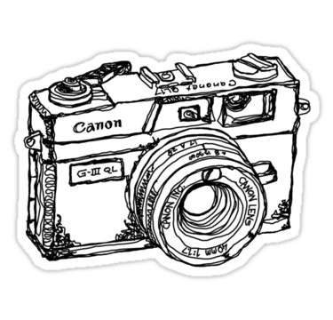 'Canon Canonet QL17 GIII Rangefiner Camera' Sticker by