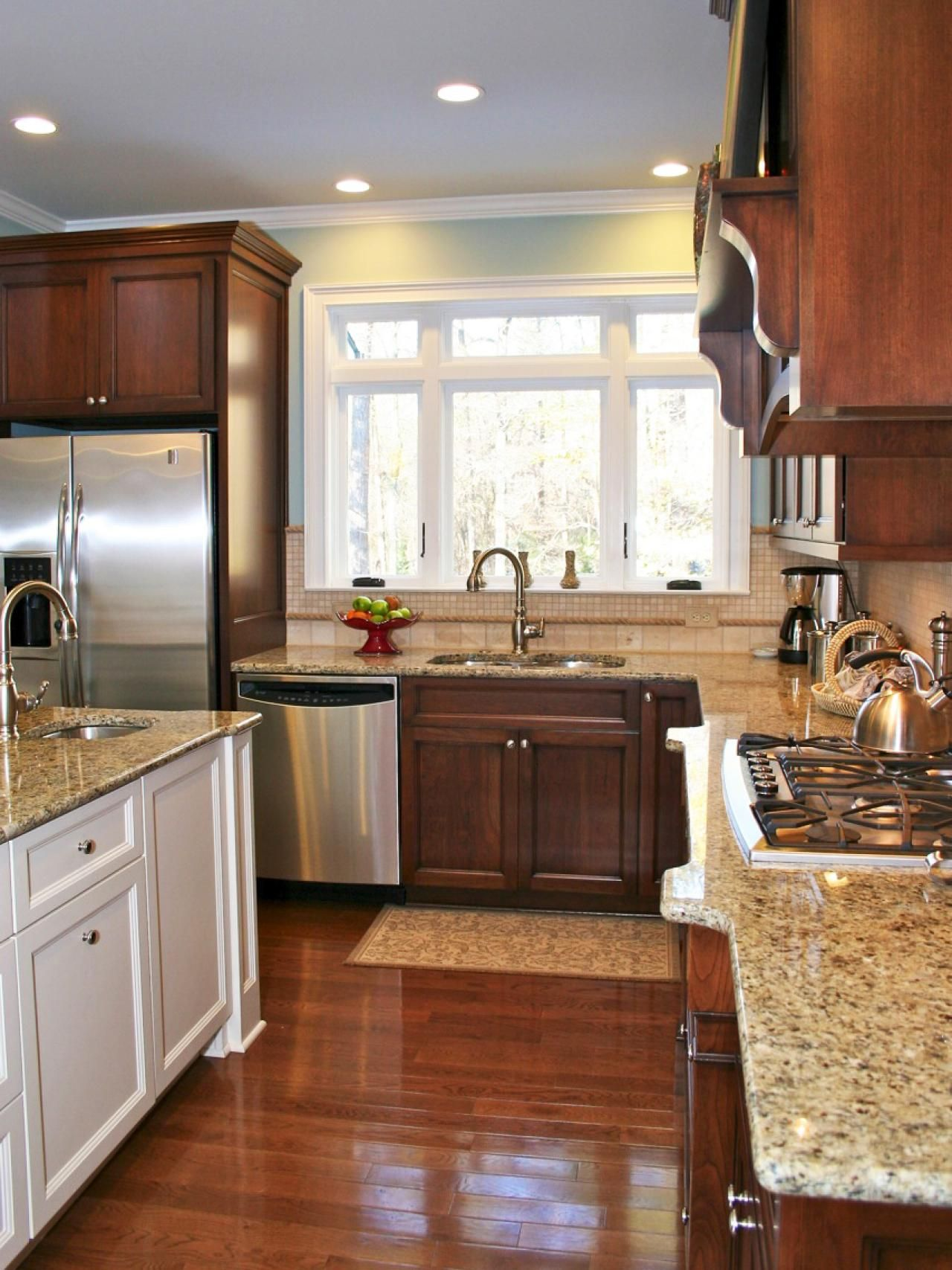 cherry wood kitchen island premade islands this 39s granite countertops give the traditional