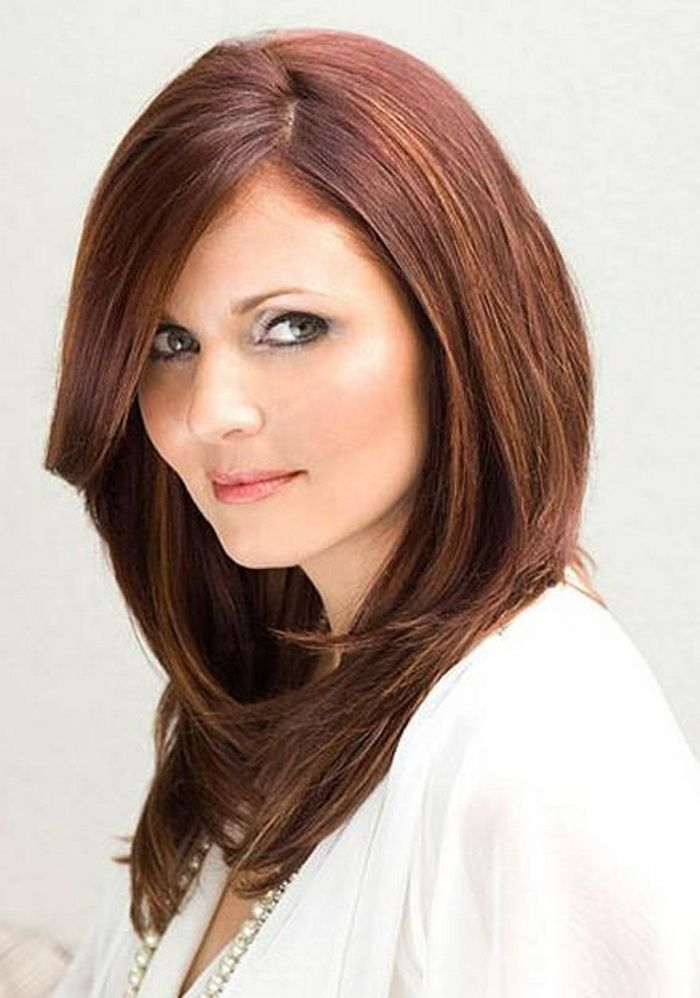 Best Hairstyles For Round Faces And Thick Hair Me Pinterest