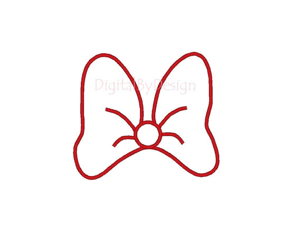 picture about Printable Minnie Mouse Bow named Minnie Mouse Bow Template - No cost Down load