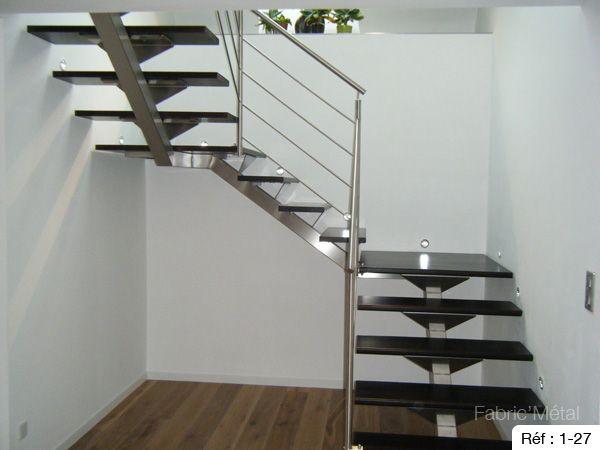 Fabrication escalier metal bois escalier moderne en Bretagne Morbihan  Fabric Metal  Ides
