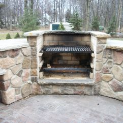 Outdoor Kitchen With Fireplace Renovated Cooking Concreations Pinterest