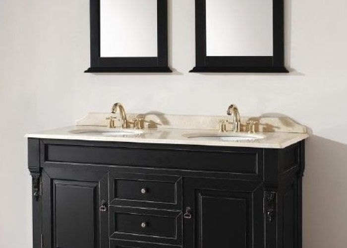 Black distressed finish not sure this is me still investigating  thinking about it double bathroom vanitiesmodern bathroombathroom ideasfrench also buying cabinets for custom vanities we bring ideas