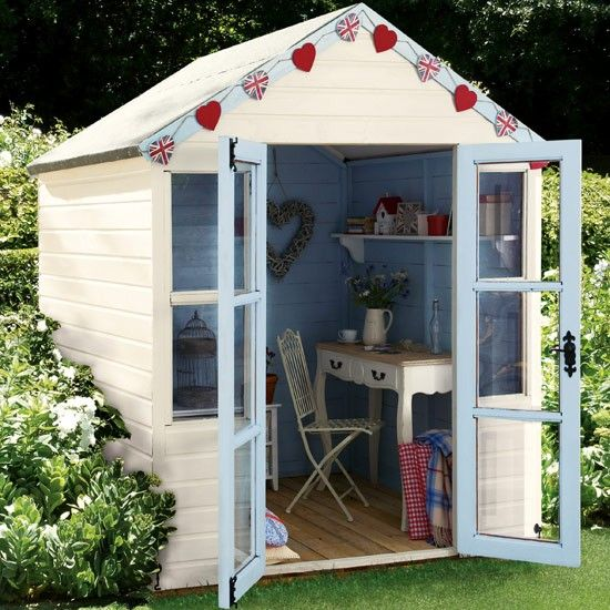 10 Bunting Ideas Gardens Shed Office And Garden Buildings