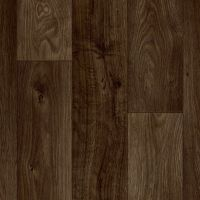 Dark Brown Oak Plank Lino