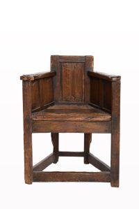 Gothic linenfold armchair circa 1460- 1480, Marhamchurch ...