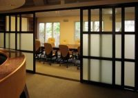 Beautiful conference room sliding doors. | Cool Offices ...