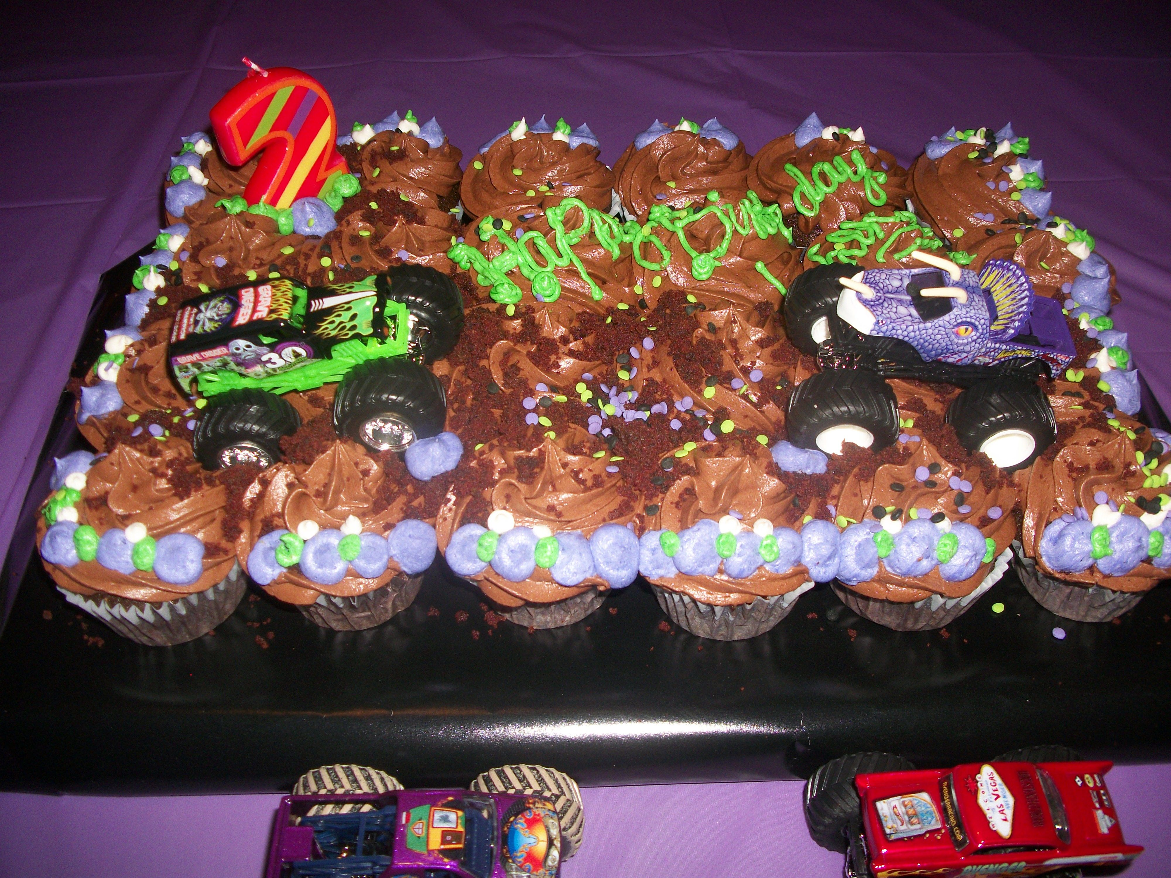 Monster Truck Cupcakes