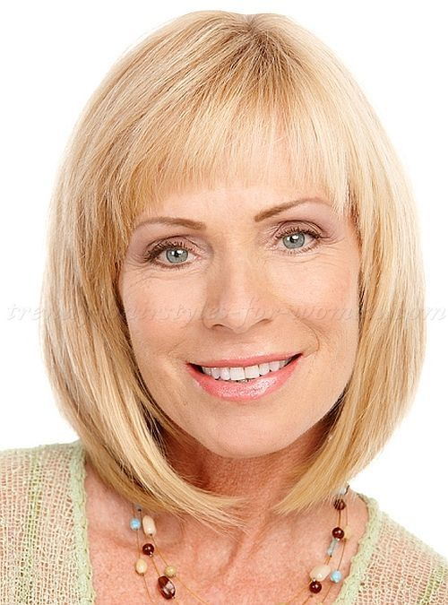 Medium Hairstyles For Mature Women Shoulder Length Bob Haircut