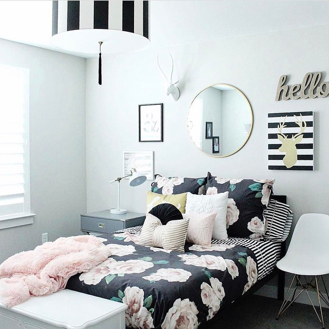 How fun is this teen room with  fabulously made bed beautiful bedding can make huge impact in any tagged by home decor for kids and interior also see instagram photo  likes rh pinterest
