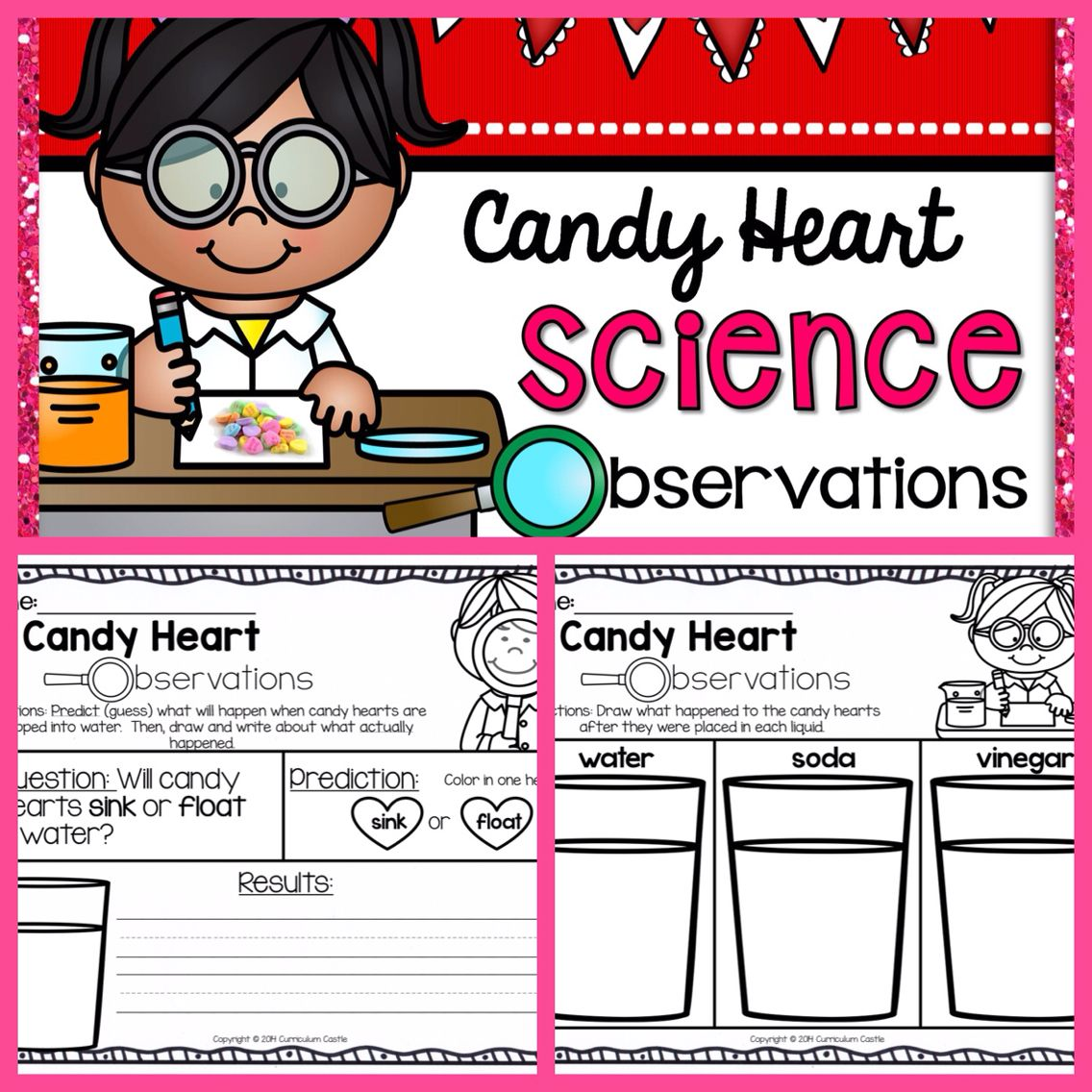 Free Candy Conversation Heart Science Observations