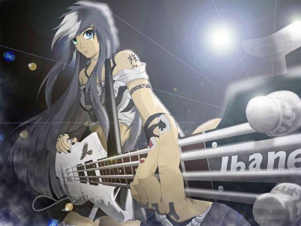 Anime Girl Playing Bass Imgurl