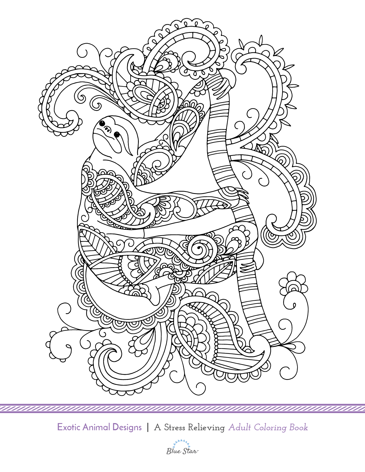 Another free adult coloring book page from Blue Star