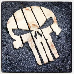 Wooden Skull Chair Anywhere Cover Punisher Back Woodworking Projects And Plans
