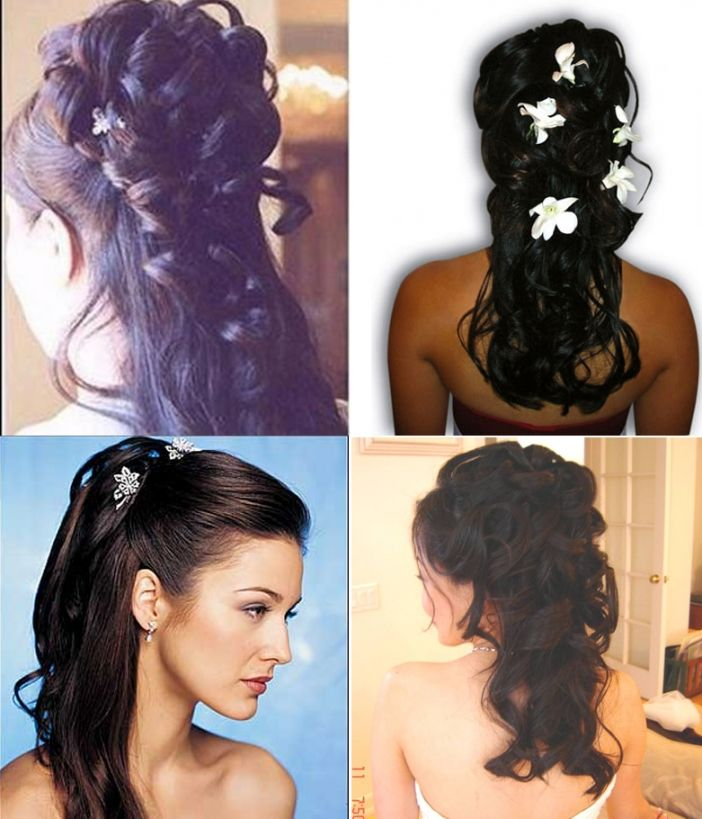 Indian Bridal Down Hairstyles Different Wedding Hairstyles