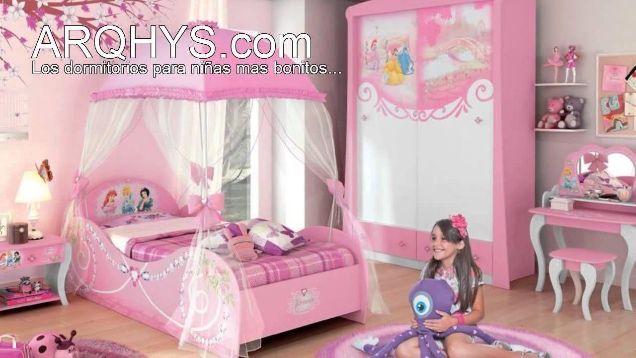 Cuartos infantiles de princesas  Dormitorio Kids  Pinterest
