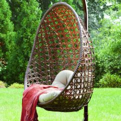 Indoor Hanging Egg Swing Chair Ikea Faux Leather Three Outdoor Chairs In Budget Urban