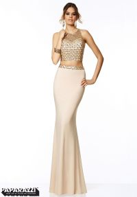 97004 Prom Dresses / Gowns Two Piece Beaded Mesh and ...