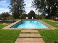 Classic backyard pool for family fun! Bimini Teal Hydrazzo ...