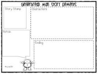 gingerbread story elements worksheet