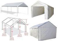 Outdoor Carport Canopy Car Shelter Frame Portable Garage ...