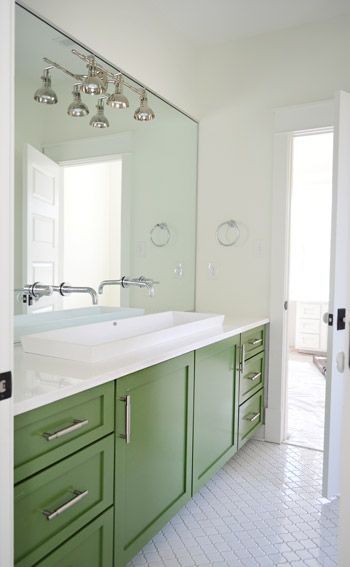 I Like To Furnish Furnish  Green cabinets Vanities and