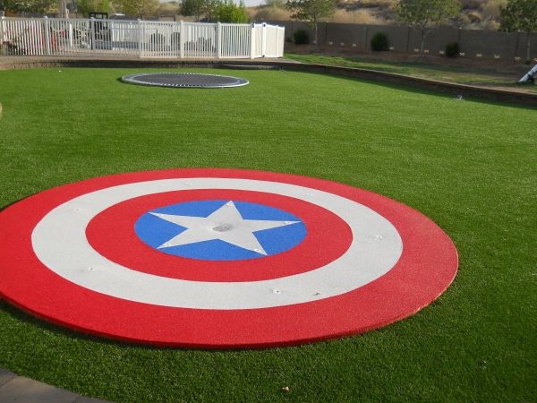 Garden Design Ideas Shield Captain America Cap Civil War Winter Soldier Trampoline Cover Vibranium Avengers Superhero Hero