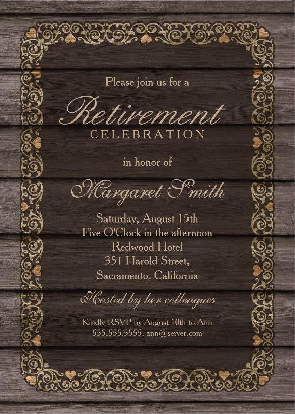 retirement dinner invitation template
