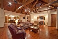 WOW! Exposed wood beams & trusses on Vault Ceiling