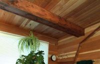 Wood Ceiling Ideas | Redwood Paneling - Bath Ceiling ...