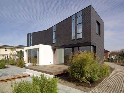 Contemporary Brick Home Brick Clay & Concrete Pavers Design