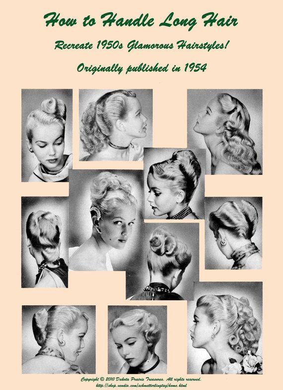 1950s ATOMIC Hairstyle Book Create 50s Long Hairstyles Ingerid