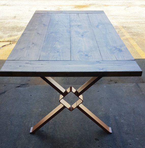 Moderno mesa comedor X las piernas piernas Industrial por DVAMetal   Pinteres