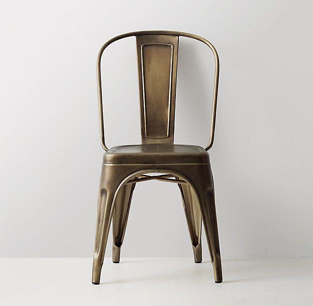 Vintage Steel Desk Chair  RH Teen 18W x 17D x 34H