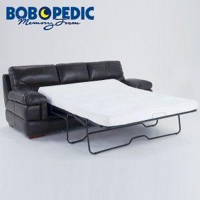 queen sleeper sofa memory foam mattress leather company cardiff carter with bob o pedic gel