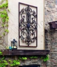 "Extra Large 61"" Metal WALL ART Iron Scroll NEIMAN MARCUS ..."
