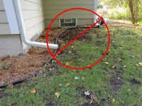 Repair Downspout Drain Pipe | Why? A house with no gutters ...