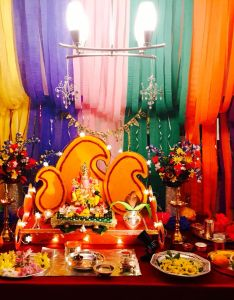 Ganpati decoration for home also homemakeover wp content uploads wblob pooja room  rh in pinterest