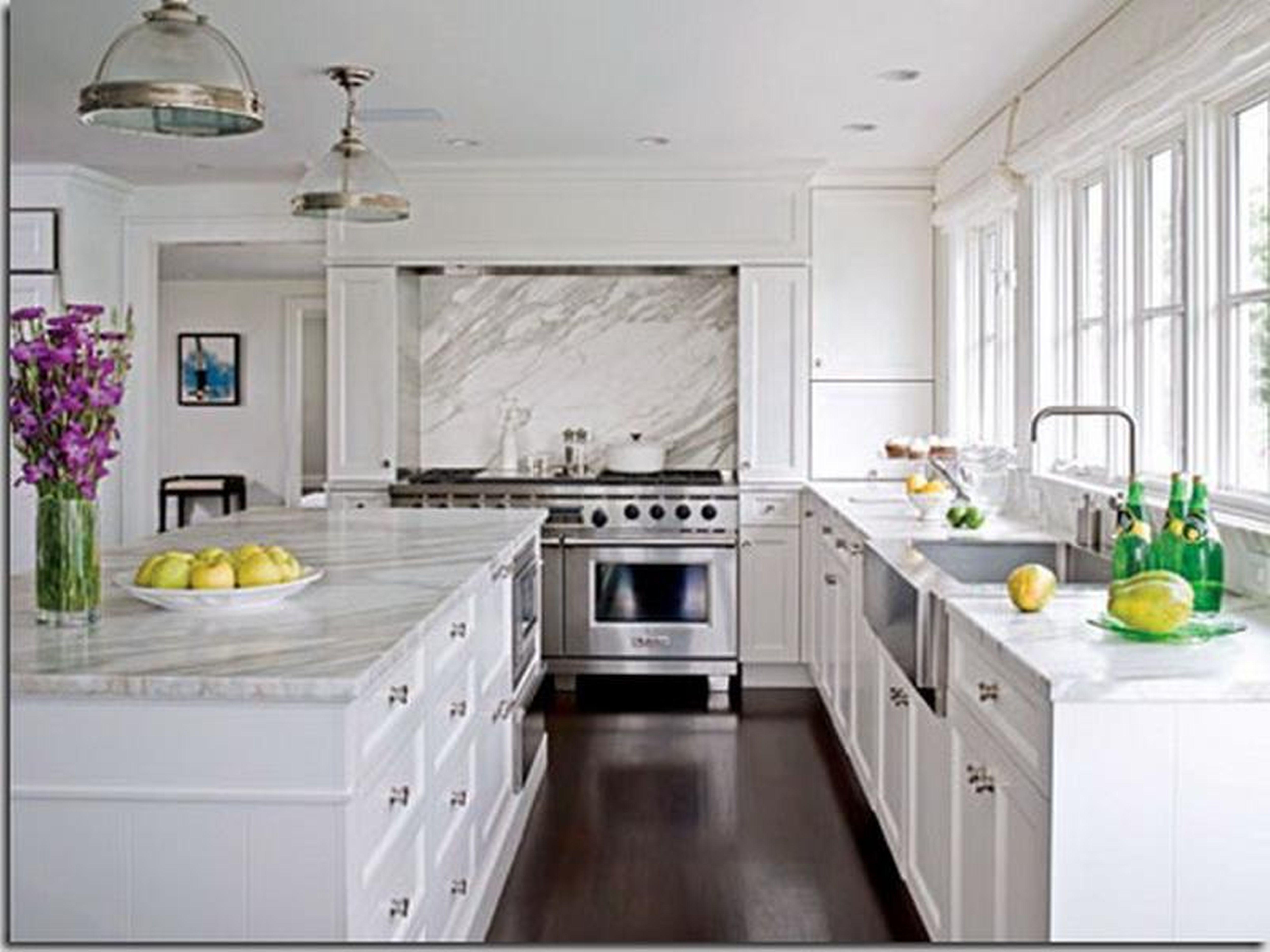 White Kitchen Quartz Countertops