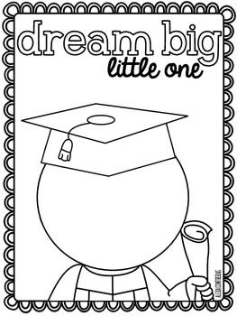 DREAM BIG LITTLE ONE {GRADUATION FREEBIE IN ENGLISH AND