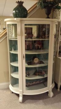 Antique Curved Glass Painted Curio! | French and Fabulous ...
