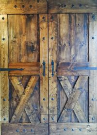 Rustic Barn Door Pulls. 8 Ft Premium Black Interior Modern ...