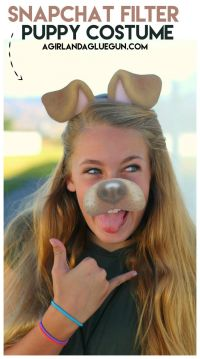 Snapchat filter-puppy costume with free printable | Puppy ...