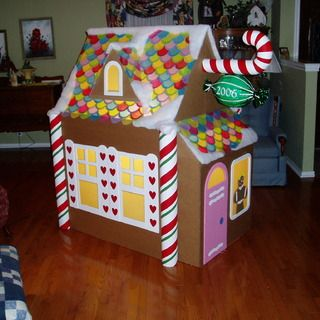 Make A Gingerbread Playhouse Gingerbread Lights And House