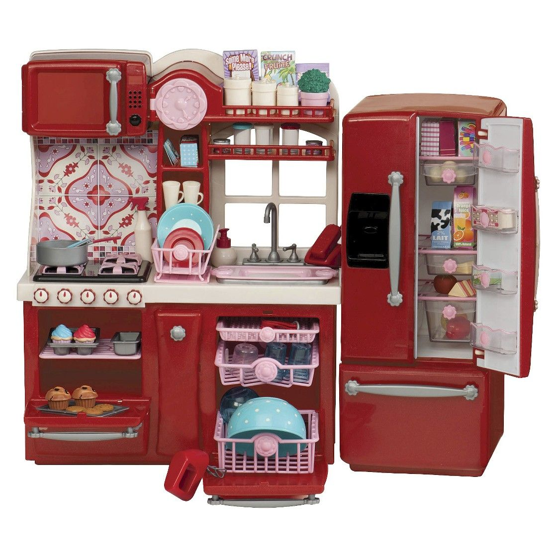 barbie gourmet kitchen round rooster rugs our generation playset