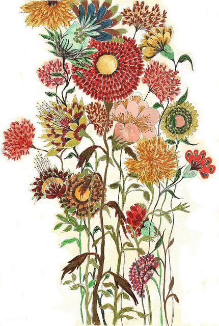 Melancholie Soul  Art  Pinterest  Muster Illustration und Blumen
