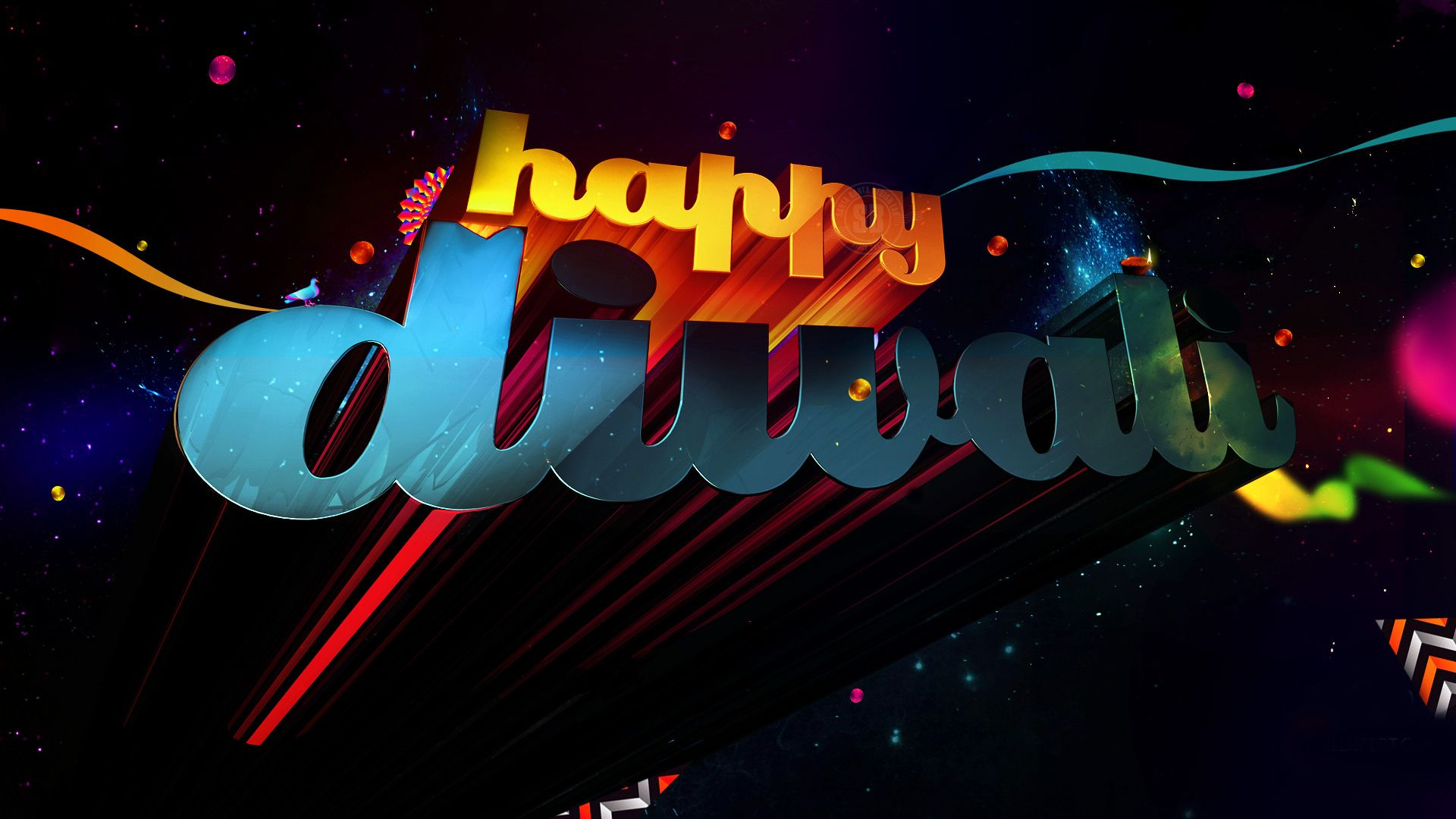download the happy diwali 2015 3d wallpaper in hd, send diwali