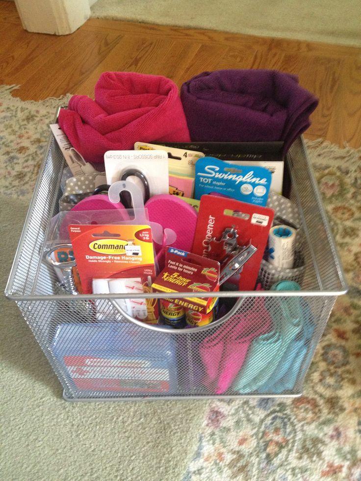 Diy gift basket for college girls college gift basket i