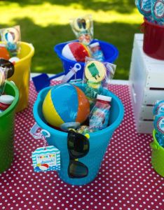 Mini Beach Balls And Sunglasses Are Must For This Colorful Pool Party Via Kara Th Birthdaywater